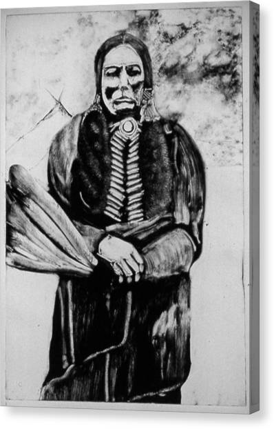 On Kiowa Reservation Canvas Print by Dan RiiS Grife