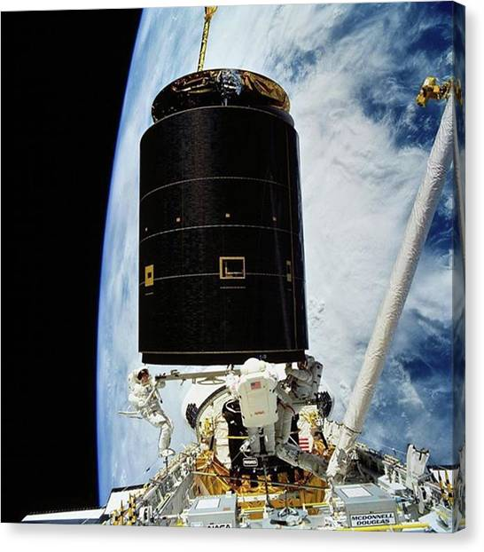 Satellite Canvas Print - On May 13, 1992, Following The by Dominik Hofer