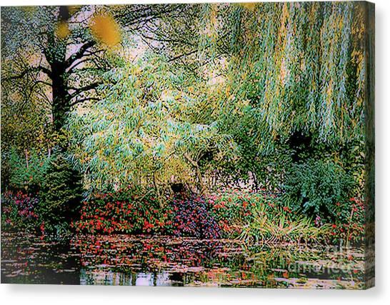 Reflection On, Oscar - Claude Monet's Garden Pond Canvas Print