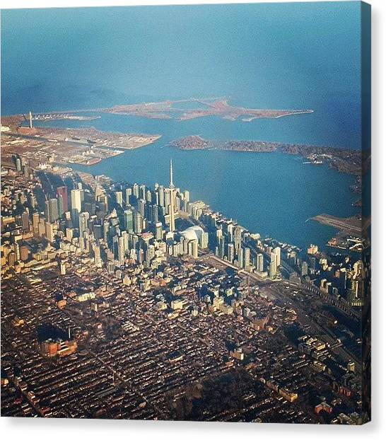 Toronto Skyline Canvas Print - On Saturday, I Was On Board Of Air by Steffen Hager