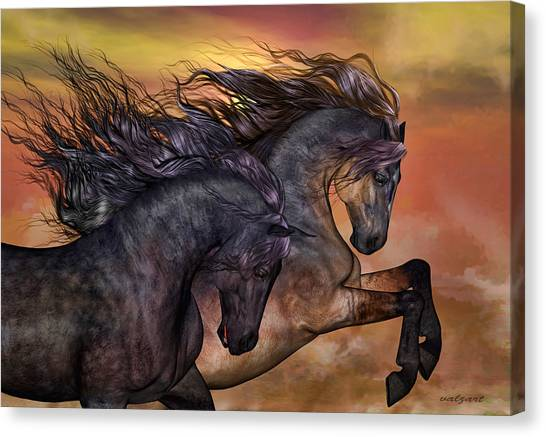 Prairie Sunsets Canvas Print - On Sugar Mountain by Valerie Anne Kelly