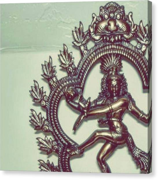 Hinduism Canvas Print - On That Nataraja Flow  #kingofdance by Gahna Adaval