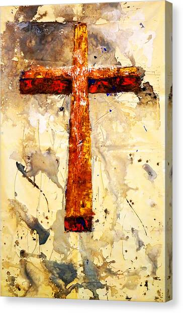 On That Old Rugged Cross Canvas Print