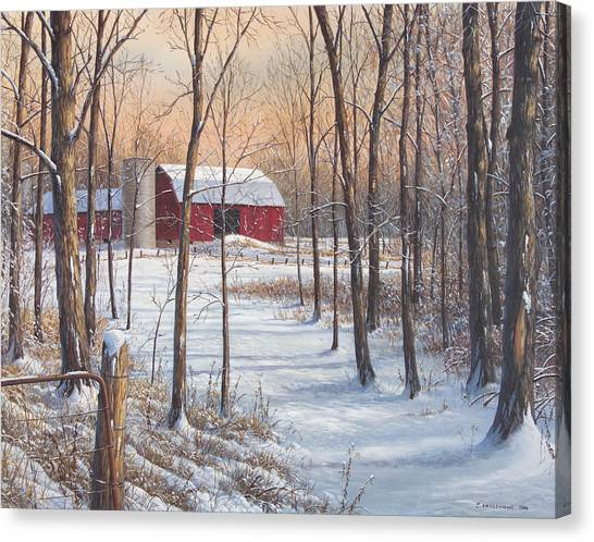 On That Snowy Morn Canvas Print