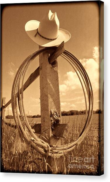 On The American Ranch Canvas Print