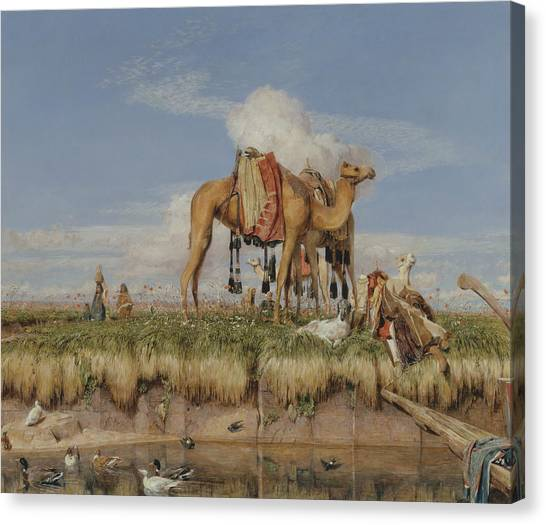 The Nile Canvas Print - On The Banks Of The Nile, Upper Egypt by John Frederick Lewis