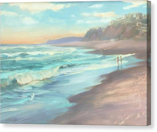Pacific Coast Canvas Print - On The Beach by Steve Henderson