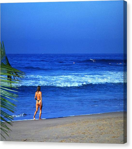 Travelpics Canvas Print - On The Beach by Travel Pics