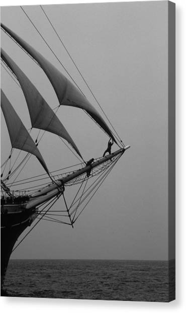On The Bow Canvas Print