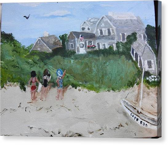 Canvas Print featuring the painting On The Cape by Jean Forman