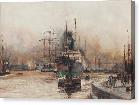 The British Museum Canvas Print - On The Clyde by Charles Edward Dixon