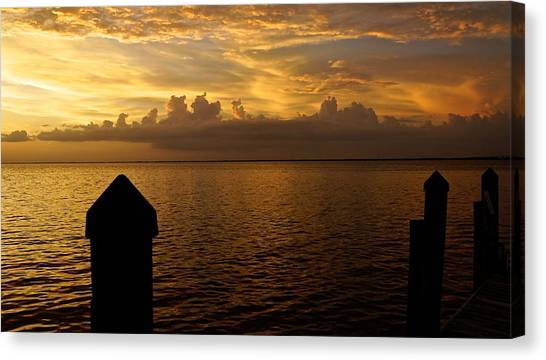 On The Dock Of The Bay Canvas Print by Christin Walton