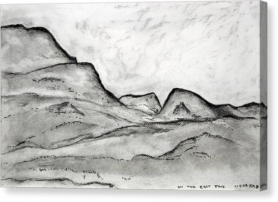 On The East Face Canvas Print