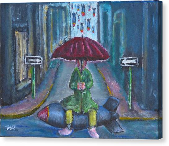 On The Edge Of Rainy Days And Mondays Canvas Print