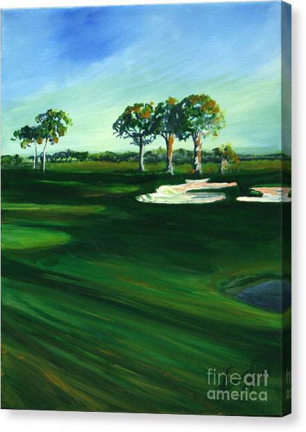 On The Fairway Canvas Print by Michele Hollister - for Nancy Asbell