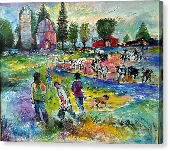 On The Farm Canvas Print