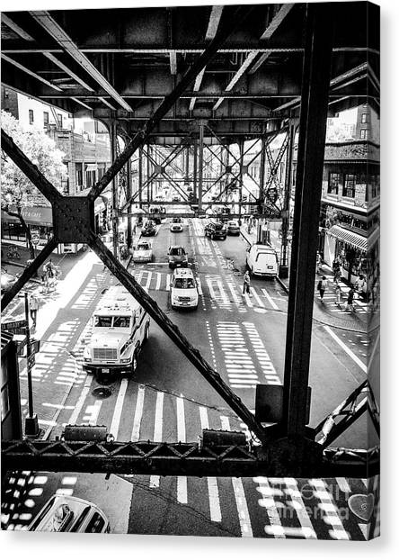 On The Go In Queens, Ny Canvas Print by JMerrickMedia