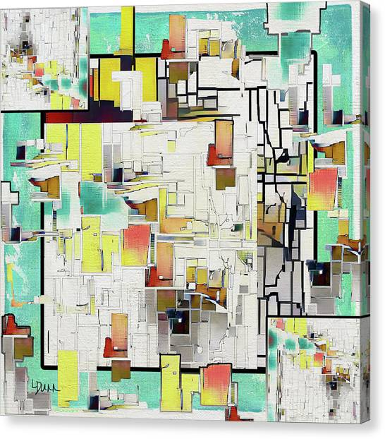 Frank Stella Canvas Print - On The Grid by Linda Dunn