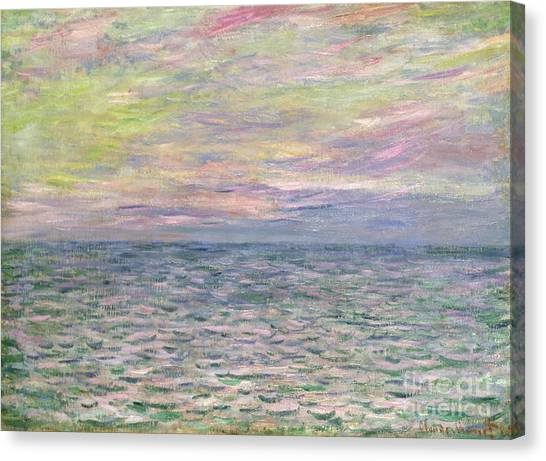 French Impressionist Canvas Print - On The High Seas by Claude Monet
