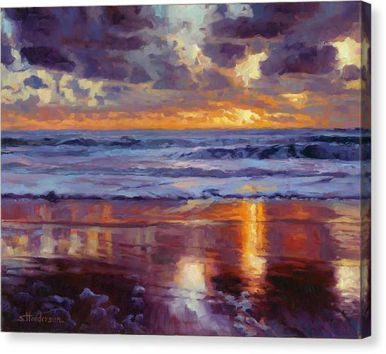 Tides Canvas Print - On The Horizon by Steve Henderson