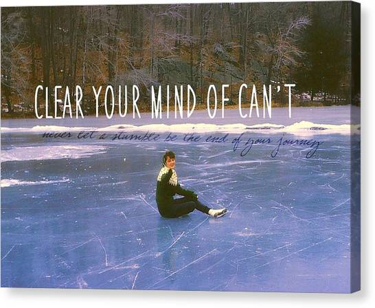 On The Ice Quote Canvas Print by JAMART Photography