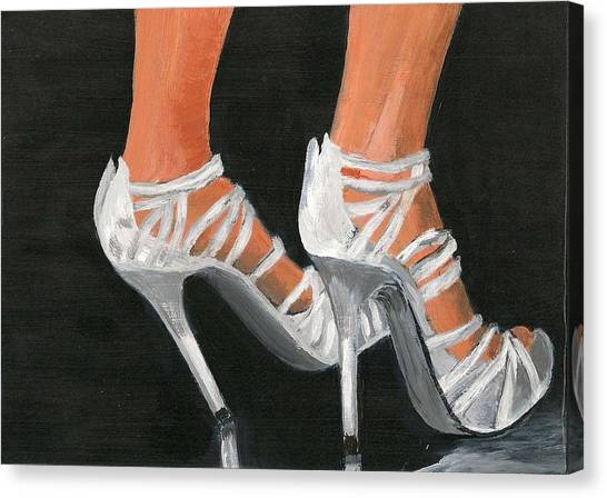 On The Job Canvas Print by Susan Macdonald