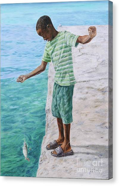 Eleuthera Art Canvas Print - On The Line by Roshanne Minnis-Eyma