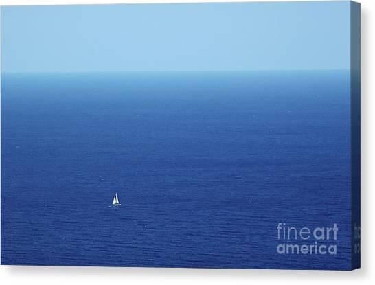 On The Mediterranean Canvas Print