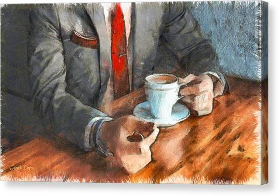 Espresso Canvas Print - On  The Money - Pa by Leonardo Digenio