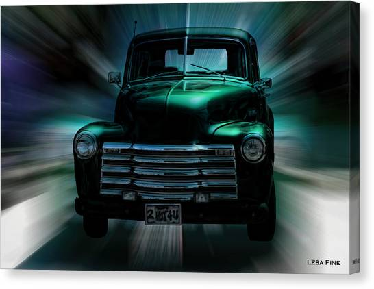 On The Move Truck Art Canvas Print