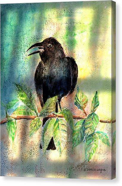 Blackbirds Canvas Print - On The Outside Looking In by Arline Wagner