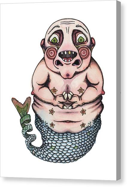 Trout Canvas Print - On The Pigs Back by Kelly Jade King