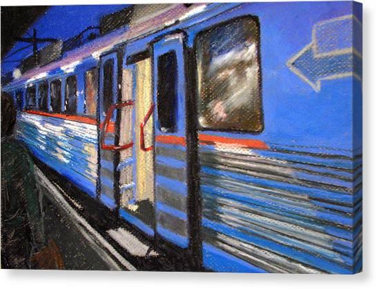 On The Platform Canvas Print by Art Nomad Sandra  Hansen