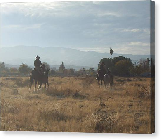 On The Range Canvas Print by Janey Loree