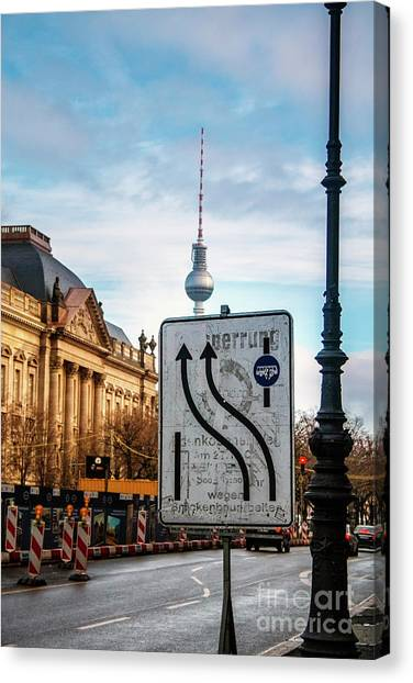On The Road In Berlin Canvas Print