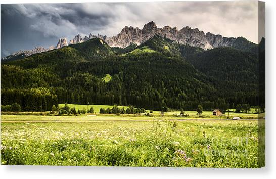 Alps Canvas Print - On The Road by Yuri San