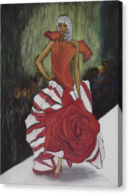 On The Runway Canvas Print by Annette Kagy