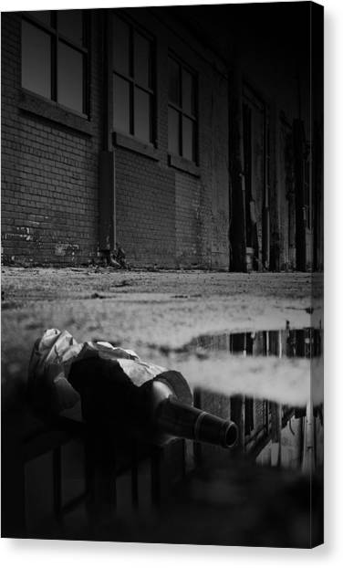 Whiskey Canvas Print - On The Seamy Side Of Town by Tom Mc Nemar