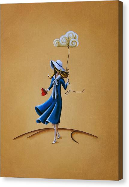 Girl Canvas Print - On The Street Where You Live by Cindy Thornton