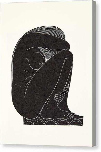 Tile Canvas Print - On The Tiles by Eric Gill