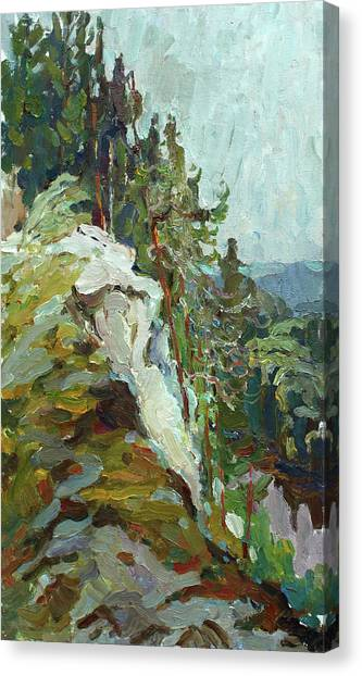 Ural Mountains Canvas Print - On The Ural by Juliya Zhukova