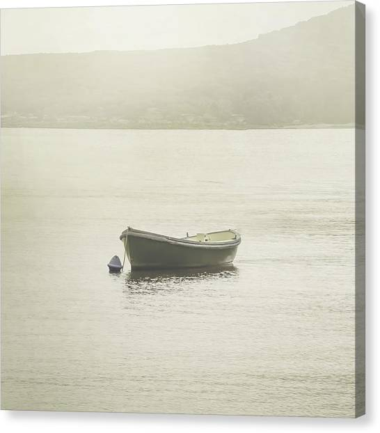 Dinghy Canvas Print - On The Water by Az Jackson
