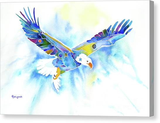 On The Wings Of An Eagle Canvas Print