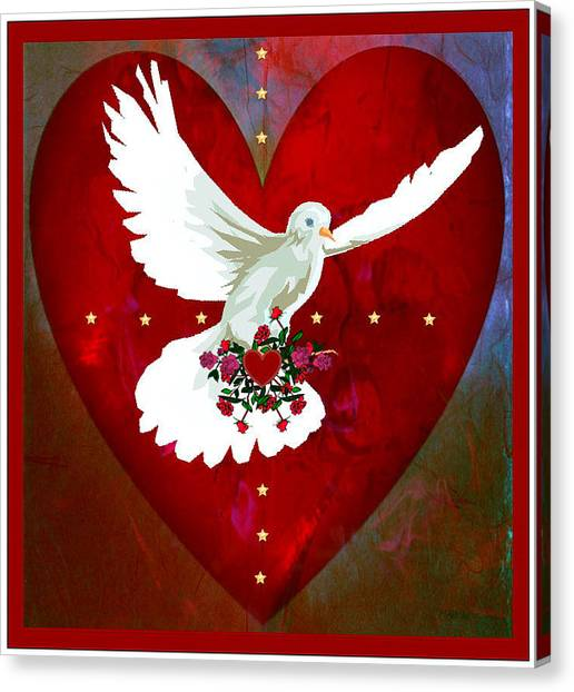 On The Wings Of Love Canvas Print