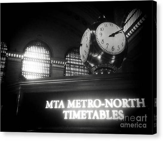 On Time At Grand Central Station Canvas Print