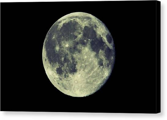 Canvas Print featuring the photograph Once In A Blue Moon by Candice Trimble