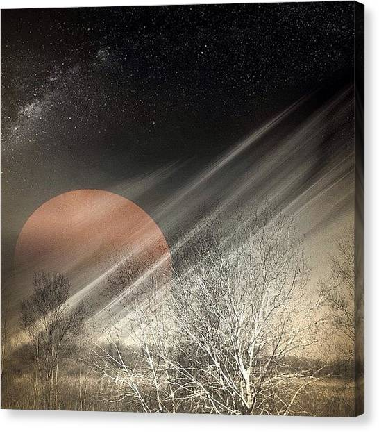 Ufos Canvas Print - Once Upon A Blood Moon by Tanya Gordeeva