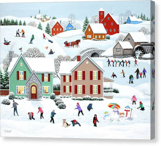 Once Upon A Winter Canvas Print