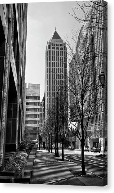 One Atlantic Center In Black And White Canvas Print