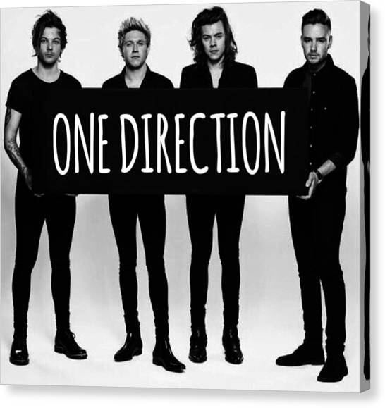 One Direction Canvas Print - One Direction  by Alexis  Casey